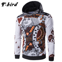 2017 New Fashion Hoodies Brand Men Playing Cards Sweatshirt Male 3D Hoody Hip Hop Autumn Winter