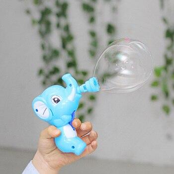 2019 New Fashion Children Cartoon Bubble Toys Elephant Cartoon Bubble Gun Toy Manual Children Baby Outdoor Bubble Machine Safe baby toys