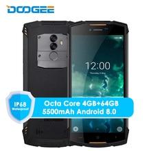 Оригинал Doogee S55 4 г LTE Dual Sim IP68 Смартфон Android 8,0 Octa Core 4 г + 64 г Водонепроницаемый ударопрочный телефон отпечатков пальцев 5500 мАч