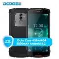Originele Doogee S55 4G LTE Dual Sim IP68 Smartphone Android 8.0 Octa Core 4G + 64G Waterdicht schokbestendig Telefoon Vingerafdruk 5500 mAh
