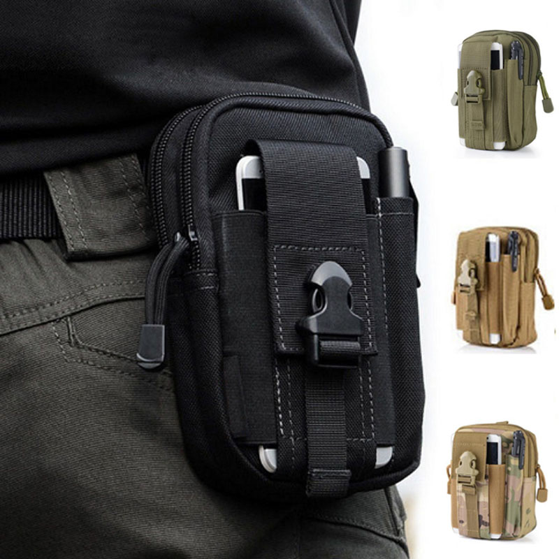 Outdoor tool bushcraft Tactical Pouch Molle Military Army Backpack phone Case Pocket fishing camp hike climb hunt waist bag EDC pocket