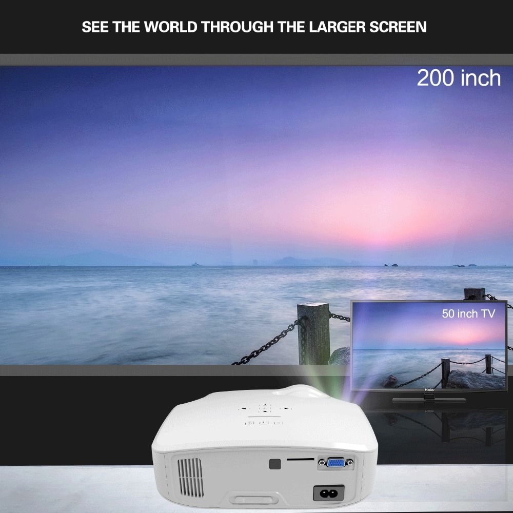 Image 2 - CRENOVA XPE498 New Portable Projector For Full HD 4K*2K 3200 Lumens  Home Theater Movie Beamer Android 7.1.2OS Proyector-in LCD Projectors from Consumer Electronics