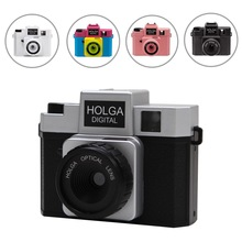 Discount! Holga Aperture 8MP 1/3.2″ CMOS Sensor Lovely Gift Digital Camera Retro LOMO Filter Style with Hot Shoe Mount F2.8 F8.0