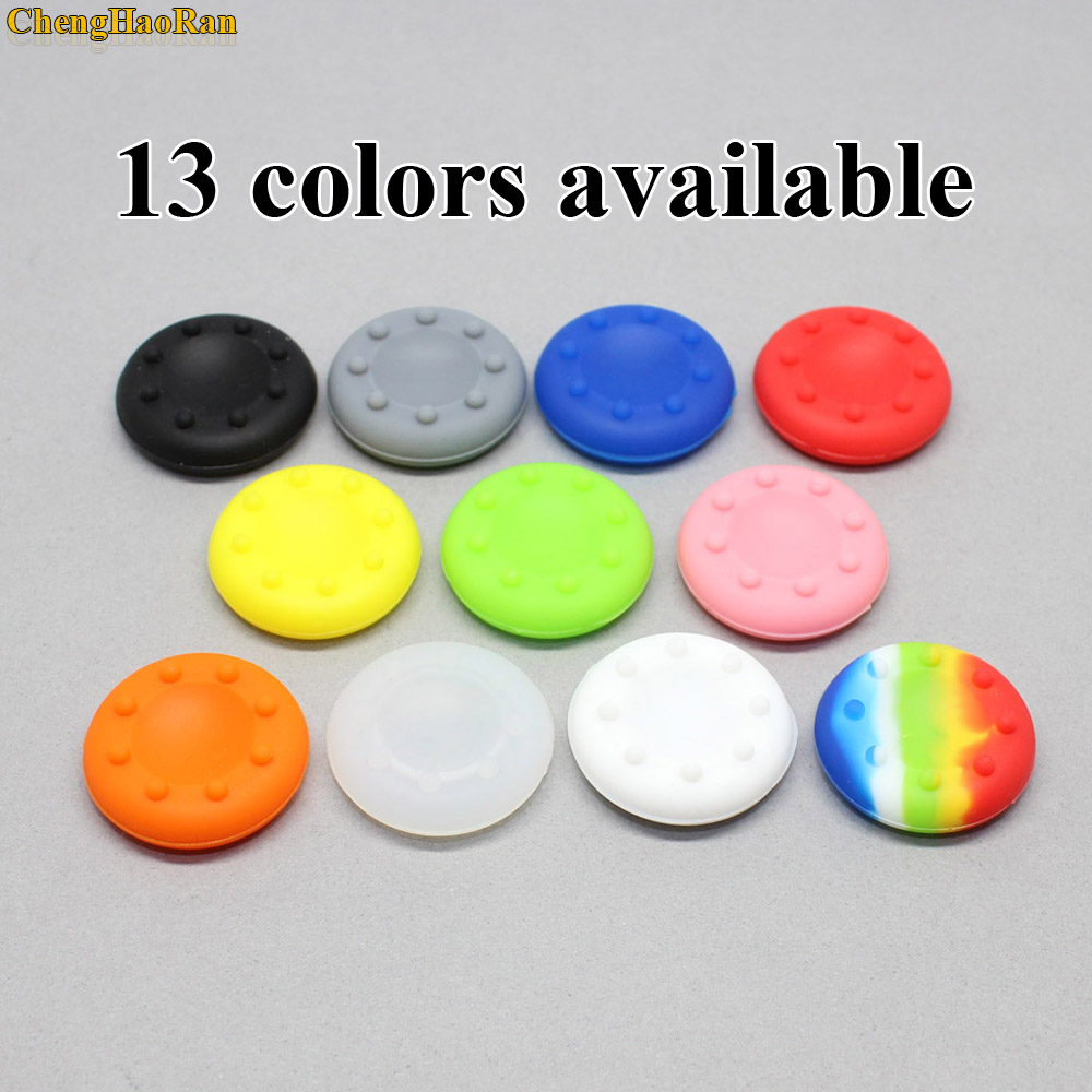 1Pair=2PCS For XBOX 360 Switch Pro Silicone Rubber Thumbstick Caps Covers Grips For PS4 Slim Pro 3 Analog Controller Stick Grips
