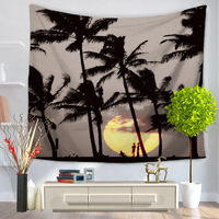 Seaside Tapestry Coconut Trees Wall Blankets Decoration Table Cloth Wall Hanging Tapiz Hippie Tapestries Tapiz Mandala Blanket