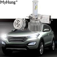 Car LED Front Bulb Car Headlamp 1Pair 120W 9600lm H4 H13 9004 9007 Super Bright Auto Headlights Car Styling Accessories DRL