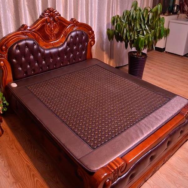 High Quality Germanium Far Infrared Negative Ion Jade Mattress Jade Electric Bed Mattress Massager Mat 1.2X1.9M Free Shipping