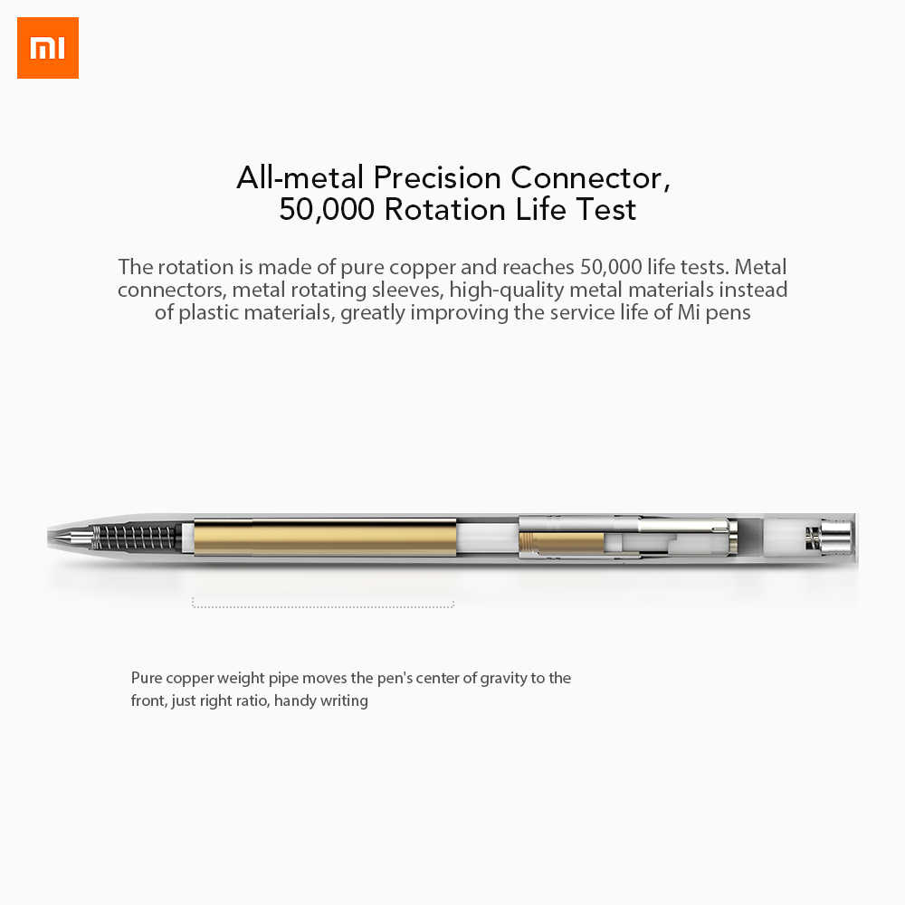 Xiao mi Pen mi jia قلم تسجيل mi أقلام مع 0.5 مللي متر السويسري الملء 143 مللي متر المتداول الأسطوانة الحبر الأسود Xio mi توقيع أقلام الحبر للمدرسة
