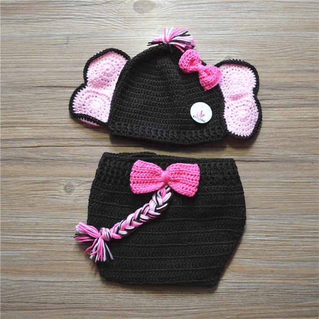 Novelty Elephant Costumehandmade Knit Crochet Baby Girl Animal Hat