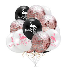 Wedding Decoration Balloons Flamingo Bride To Be Team Mr Mrs 12 inch Rose Gold Latex Balloon Party Supplies