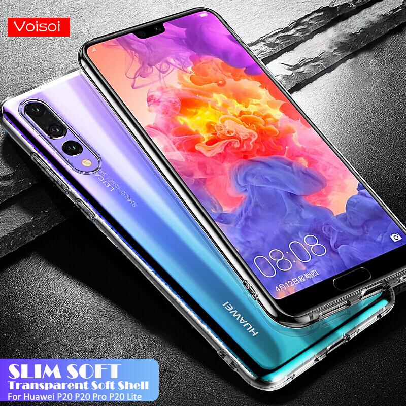 Silicone Soft TPU Transparent Case For Huawei P20 P20Pro P20 lite Mate10 Pro Transparent Phone Cover For Honor 10 V10 Case Shell