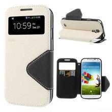 Для Galaxy S4 i9500 кожаный чехол рев Корея Необычные Дневник Вид из окна кожаный чехол для Samsung Galaxy S4 i9500- Бесплатная доставка
