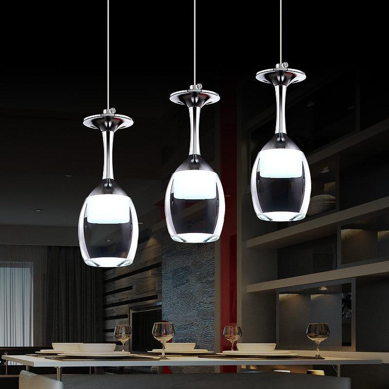 Art Deco Pendant Light Modern Red Wine Goblet Pendant Lights With Glass Shade Hanging Lamp Hotel Bar Restaurant Pendant Lighting