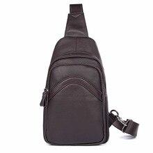 Genuine Leather Men Bag New Arrival Shoulder Vintage Fashion Chest Large Capacity Crossbody 4013Q