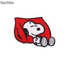 Patchfan dog embroidery cartoon Applique patches stickers pour sewing shirt clothing para jacket badge iron on t-shirt A1606