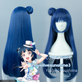 Envío gratis lovelive! sol! amor vivo Yoshiko Tsushima Cos pelo de la peluca azul gris Anime Cosplay pelucas del partido peluca