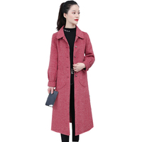 Двухстороннее кашемировое пальто женское 2019 женское клетчатое шерстяное самовыращивание средней длины водная куртка кашемировое пальто н