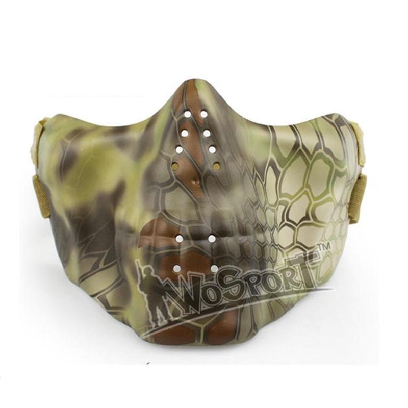 WoSporT тактический CS маска для лица половина анфас страйкбол мотоциклетные страшно опоры Хэллоуин вечерние Косплэй Пейнтбол Шестерни
