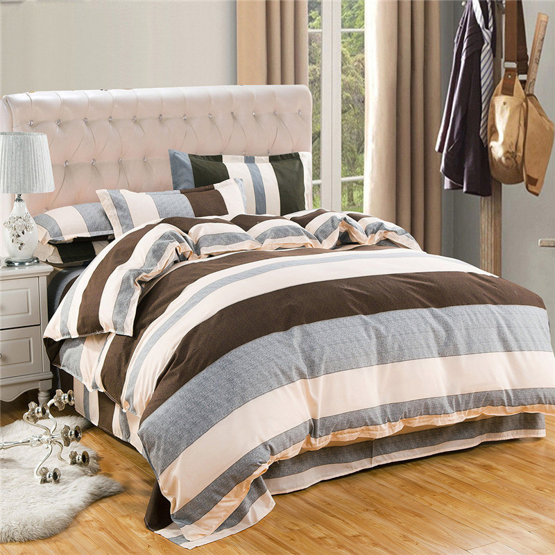 4Pcs/Set Bedding Set Cotton Cover Bed Sheet Duvet Cover ...