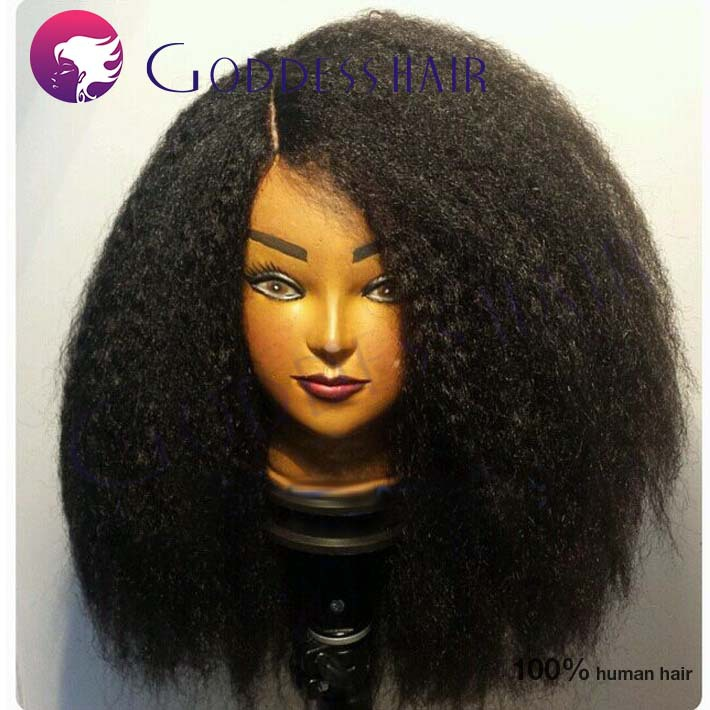 180 Heavy Density Coarse Kinky Straight Full Lace Wig