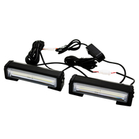 SUNKIA 2Pcs/Lot High Bright 32w Car COB Warning Light Car Styling External Emergency Strobe Light Flash White Lamp
