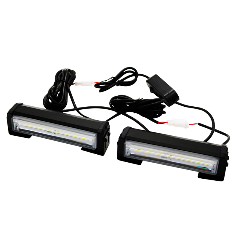 SUNKIA 2Pcs/Lot High Bright 32w Car COB Warning Light Car Styling External Emergency Strobe Light Flash White Lamp