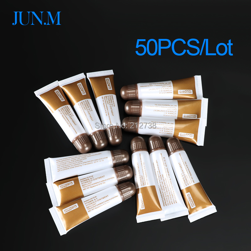 50 Pcs Tattoo Aftercare Cream Care Lotion Anti Scar Vitamin Ointment Repair Gel Nursing Ointment A&D Anti Tattoo Scar-B5