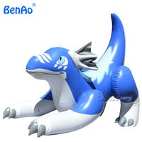 AC324 Best PVC Blue Inflatable Drago,BenAo Inflatable cartoon toys,Riding Blue Inflatable Aaron Dragon Animal Pool Toy