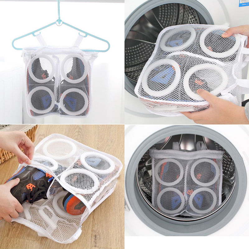Hollow Out Mesh Shoes Laundry Bags Washing Sneaker Tennis Laundry Net Hanging Wash Bag Shoes Boot Cleaner Laundry Storage Bags