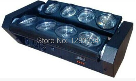4 шт./лот свет бар кри 8x10 Вт светодиодный луч вращения бар перемещение головы сценического освещения dmx dj оборудование для вечерние