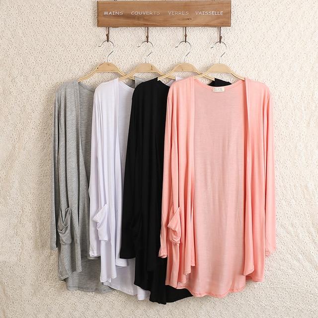 New Fashion Women brand Cardigan Sweater Poncho Lady Long sleeve Casual Slim 100% Cotton Solid female Knitwear Coat Kimono D150 1
