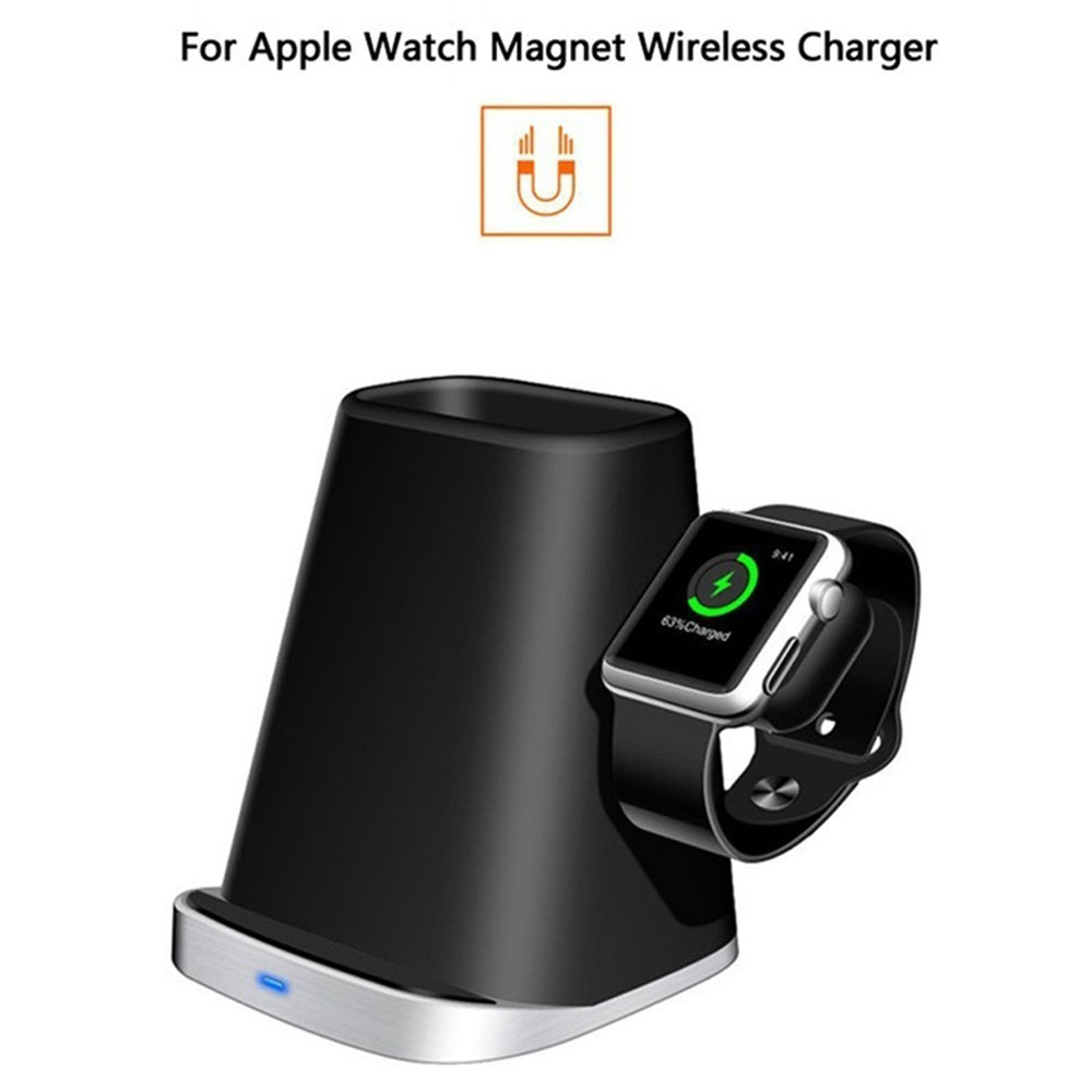 3 In 1 Fast Charging Qi Wireless Charger for Apple watch 2 3 4 For iPhone XS Max XR X 8 Plus Wireless Charging Dock Station3 In 1 Fast Charging Qi Wireless Charger for Apple watch 2 3 4 For iPhone XS Max XR X 8 Plus Wireless Charging Dock Station
