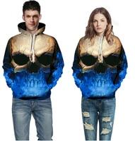 Skull Headr Men 3D Hoodies Sweatshirts 3D Printed Funny Hip HOP Hoodies Novelty Streetwear Hooded Autumn