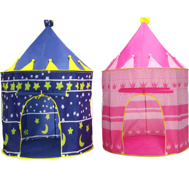 Children Indoor Play Tent Blue/Pink Castle Playhouse Tents for ...