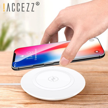 !ACCEZZ Qi Wireless Charger For Samsung Galaxy S9/S9+ S8 S7 Charge Dock Station iPhone XS Max XR X 8 Plus Phone Pad