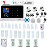 Yobang Security English Russian Spansih Voice Prompt SIM Home Security Wifi GSM Alarm System APP Remote