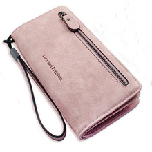MANWEN New Fashion Long Women Wallets Designer Brand Clutch Purse Lady Party Wallet Female Wholesale Leather Money Clip 140