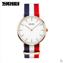 skmei 2 hands ultra thin genuine leather ultra thin quartz watch for man