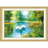 Diamond Embroidery Swan Scenic Diy Diamond Painting Nature Cross Stitch Square Drill Rhinestone Diamond Mosaic Home