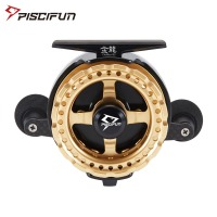 Piscifun Raft Fishing Reel 7+1 Ball Bearings 3.8:1 Gear Ratio Raft Reel Carbon Fiber CNC Spool Trolling Reel Golden G Silveria