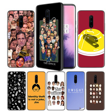 TV the office cast meme Soft Black Silicone Case Cover for OnePlus 6 6T 7 Pro 5G Ultra-thin TPU Phone Back Protective