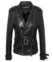 Free shipping,2018 fashion Genuine leather slim jackets.Asian plus size female casual sheepskin jacket.womens jacket