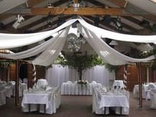 10 m longueur x 045 m large 12 pcslot partie de banquet de mariage dcoration de mariage plafond drap de tentures canopy pour dcoration - Drap Mariage Plafond