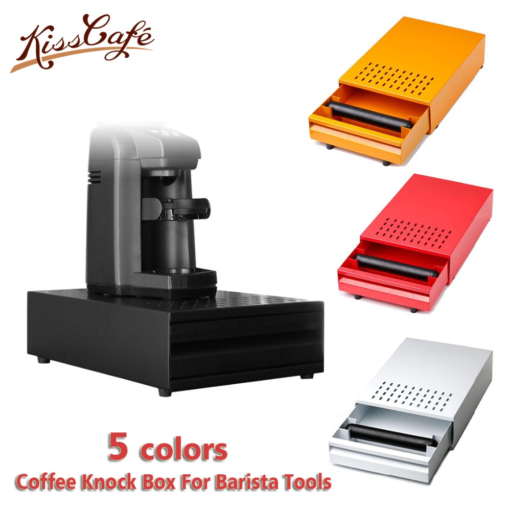 NEW Stainless Steel Espresso Coffee Knock Box With Drawer Coffee Slag isn t Splash Manual Coffee