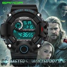 S Choque Hombres Mujeres Deportes Reloj LED Digital Reloj Militar Reloj de Pulsera de Moda Al Aire Libre de Natación Impermeable reloj Digital Reloj Captial