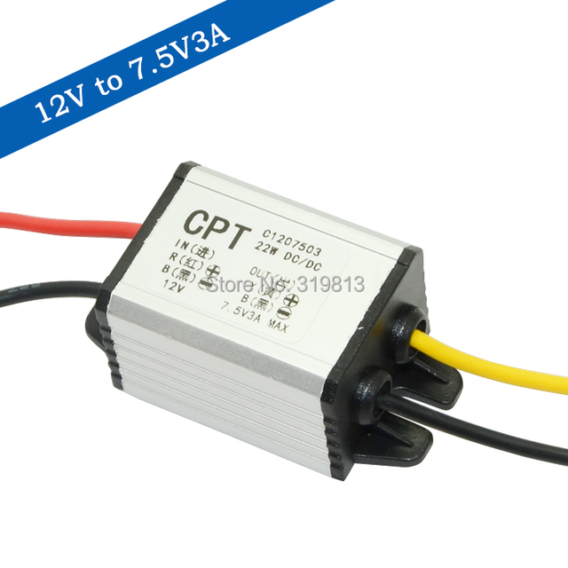 DC-DC 12V to 7.5V 22W converter car power supply step down waterproof buck module