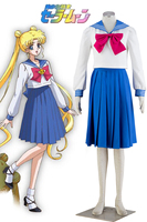 Free Shipping Sailor Moon Princess Sailor Moon Tsukino Usagi Sailor School Uniform Anime Cosplay Costume
