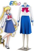 Free Shipping Sailor Moon Princess Sailor Moon Tsukino Usagi Sailor School Uniform Anime Cosplay Costume
