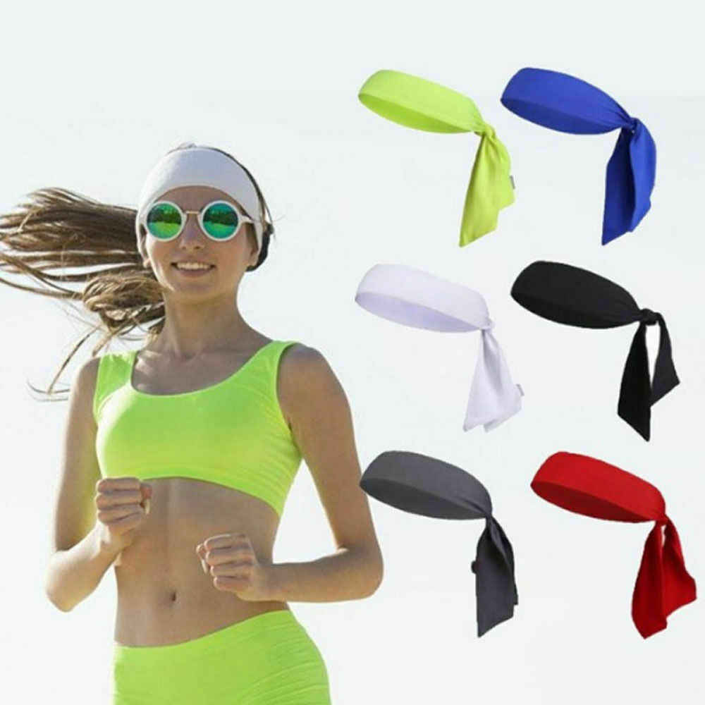 Outdoor Men Headband Sports Running Basketball Head Tie Tennis Sweatband Wrap