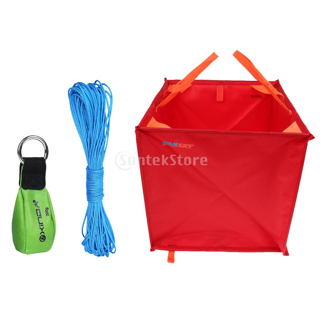 Foldable Large Triangle Climbing Arborist Throw Line Storage Bag Deploy Cube